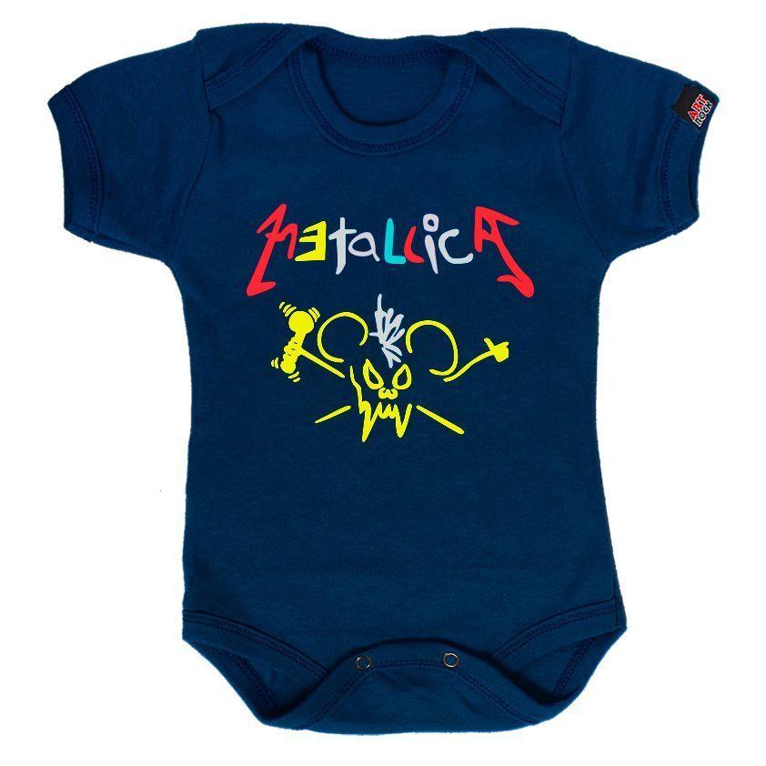 Body Bebê Metallica Rabiscado - ArtRock