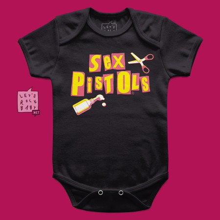 Body Infantil Let's Rock Baby Sex Pistols Tesoura e Cola
