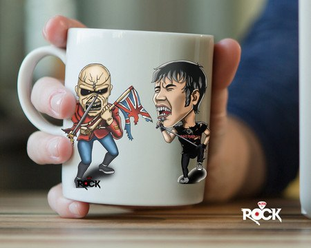 Caneca Exclusiva Mitos do Rock Bruce Dickinson Iron Maiden