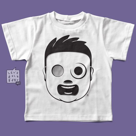Camiseta Infantil Let's Rock Baby Slipknot Baby