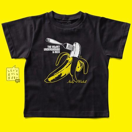 Camiseta Infantil Let's Rock Baby Velvet Underground Banana