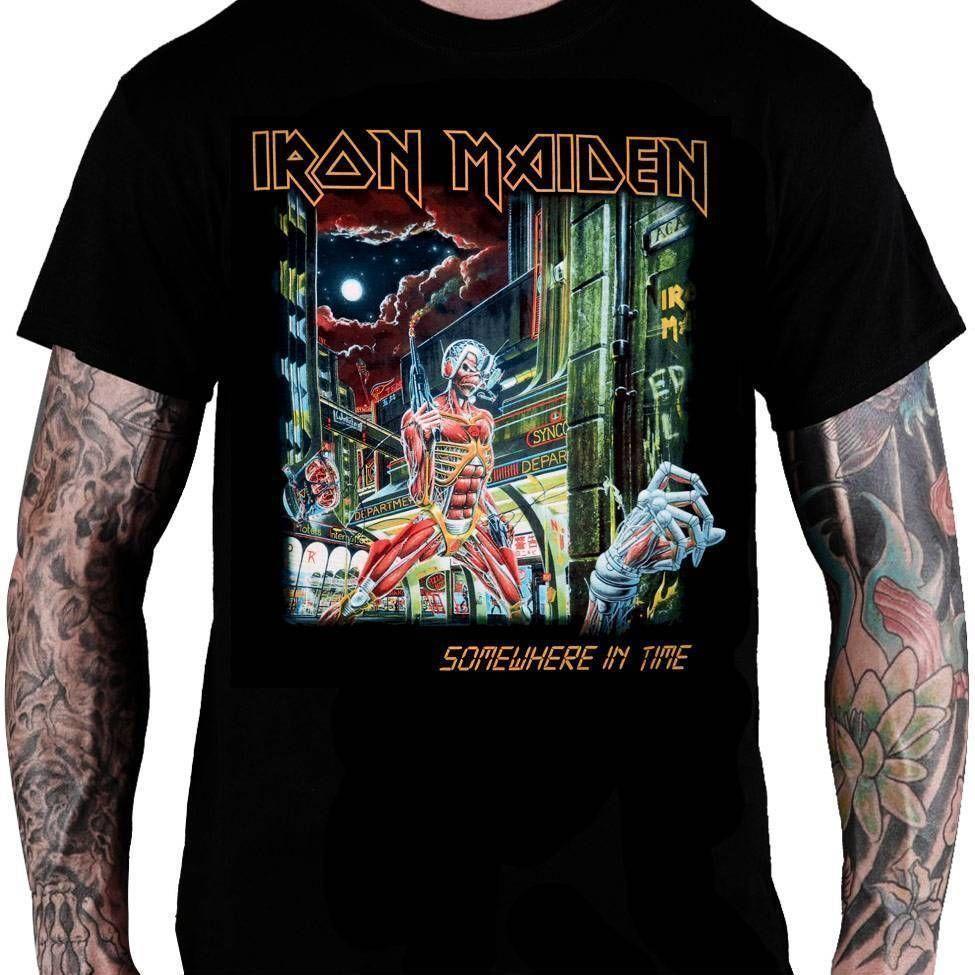 Camiseta Iron Maiden Somewhere in Time - Consulado do Rock