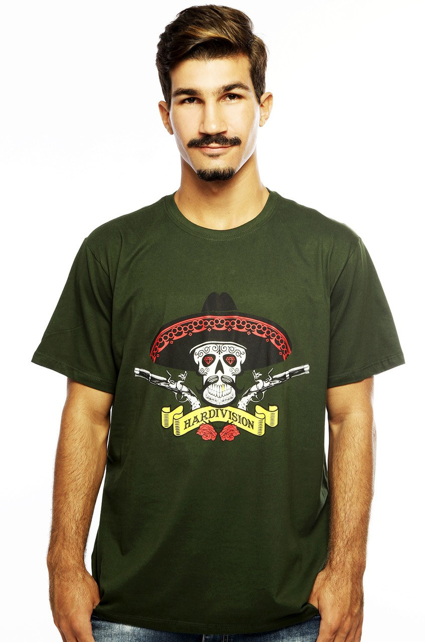 Camiseta MasculinaEstampada Hombre Verde Hardivision