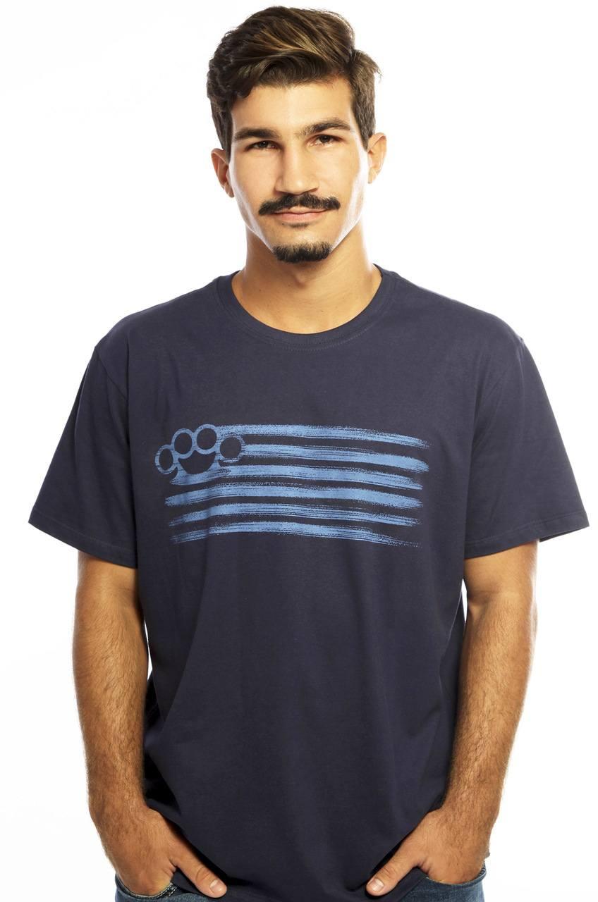 Camiseta MasculinaEstampada Punch Azul Hardivision