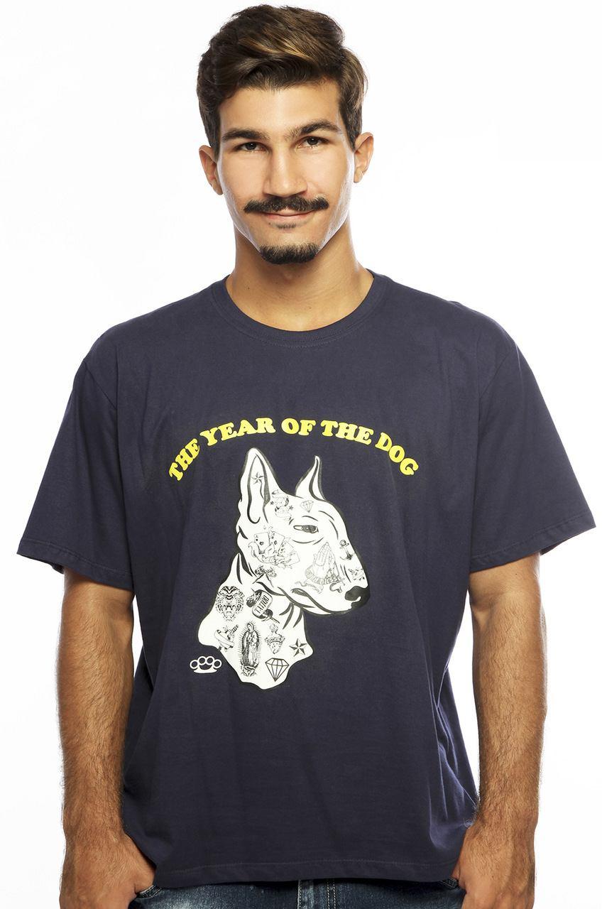 Camiseta MasculinaEstampada The Dog Azul Hardivision
