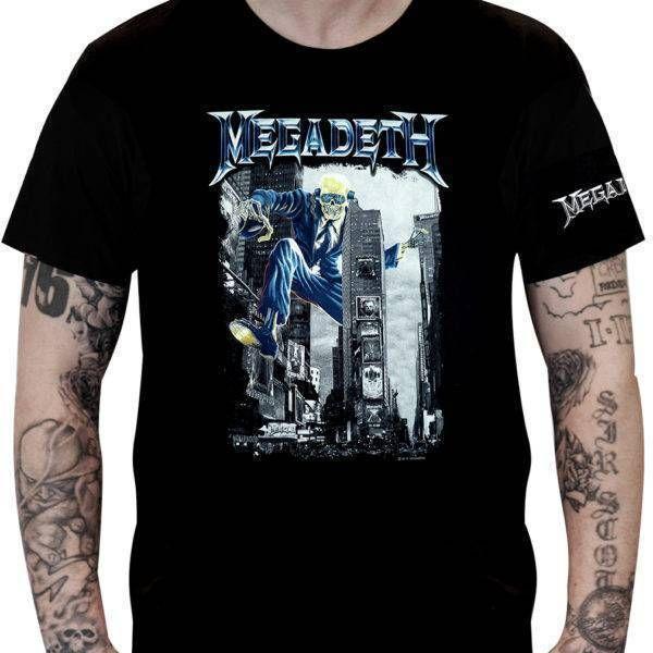 CamisetaMegadeth Vic Rattlehead - Stamp