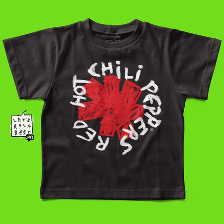 Camiseta Infantil Let's Rock Baby Red Hot Chili Peppers Handmade