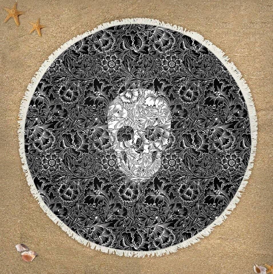 Canga Skull Flowers Black – Rvalentim