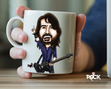 Caneca Exclusiva Mitos do Rock Dave Grohl Foo Fighters
