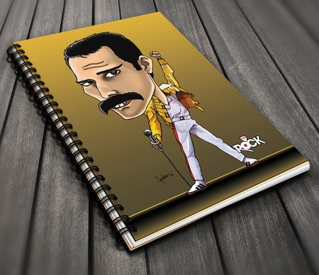 Caderno Exclusivo Mitos do Rock Freddie Mercury