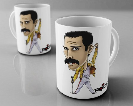 Caneca Exclusiva Mitos do Rock Freddie Mercury