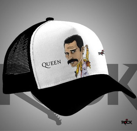 Boné Trucker Mitos do Rock Freddie Mercury Queen