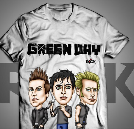 Camiseta Exclusiva Mitos do Rock Green Day