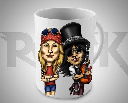 Caneca Exclusiva Mitos do Rock Guns n Roses II