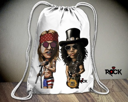 Mochila Saco Mitos do Rock Guns n Roses