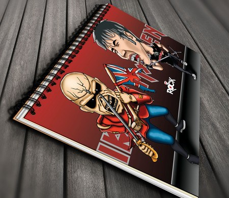 Caderno Exclusivo Mitos do Rock Iron Maiden