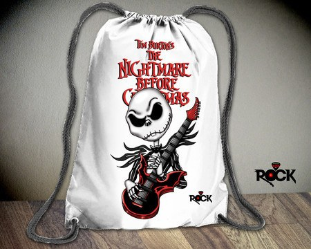 Mochila Saco Mitos do Rock Jack Skellington