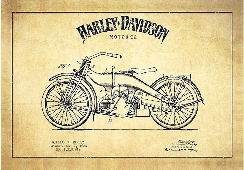 Jogo Americano Harley Sketch (2 peças) – Rvalentim