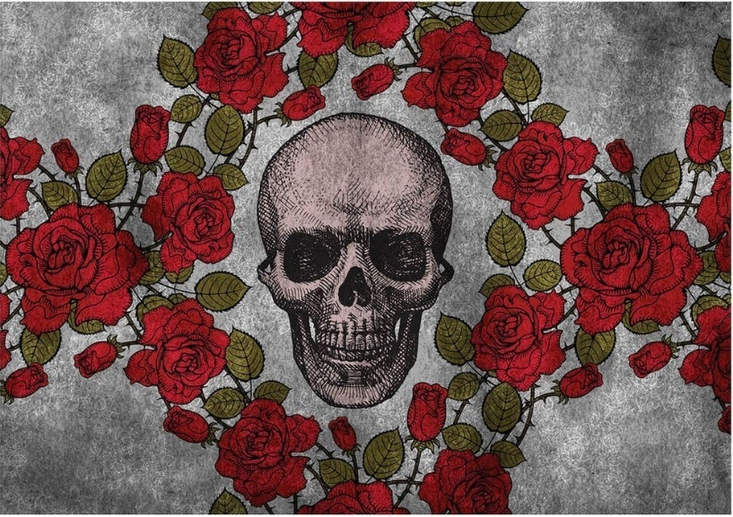 Jogo Americano Skull Roses (2 peças) – Rvalentim