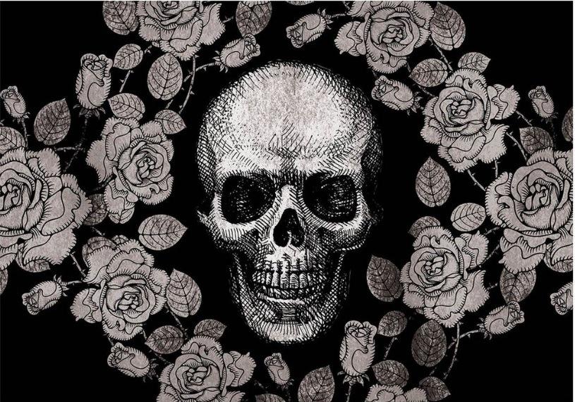 Jogo Americano Skull Roses Black (2 peças) – Rvalentim