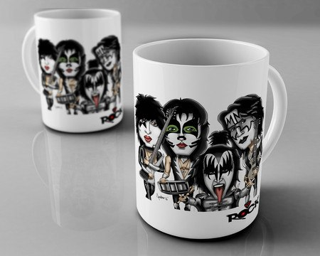 Caneca Exclusiva Mitos do Rock Kiss