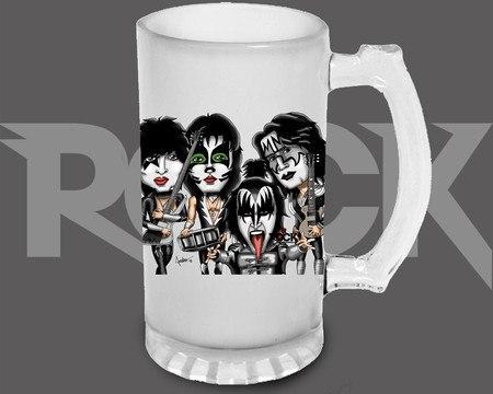 Canecão de Chopp Kiss – Mitos do Rock