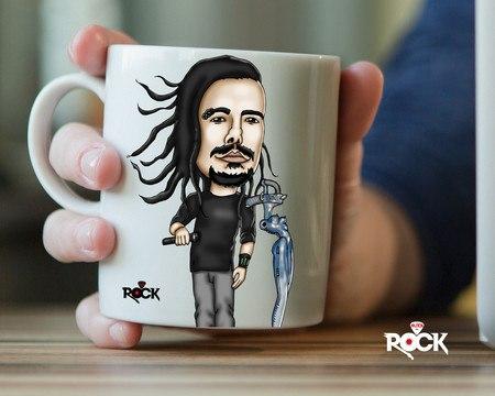 Caneca Exclusiva Mitos do Rock Korn
