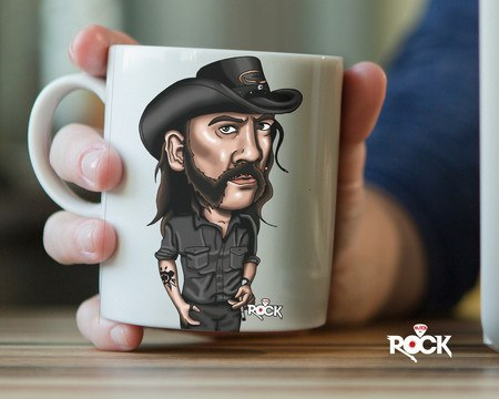 Caneca Exclusiva Mitos do Rock Lemmy Kilmister Motorhead