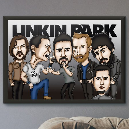Pôster com Moldura Mitos do Rock Linkin Park