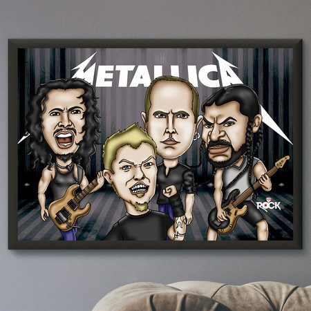 Pôster com Moldura Mitos do Rock Metallica