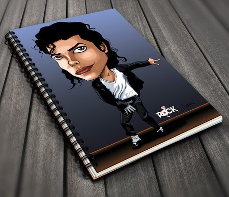Caderno Exclusivo Mitos do Rock Michael Jackson