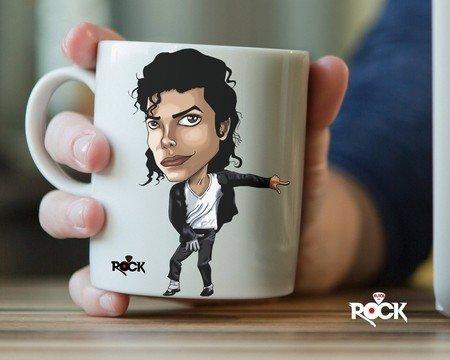 Caneca Exclusiva Mitos do Rock Michael Jackson