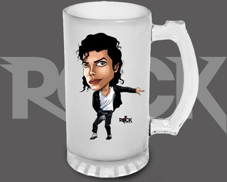 Canecão de Chopp Michael Jackson – Mitos do Rock