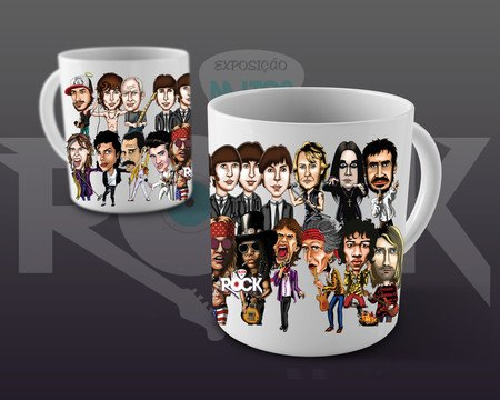 Caneca Exclusiva Mitos do Rock