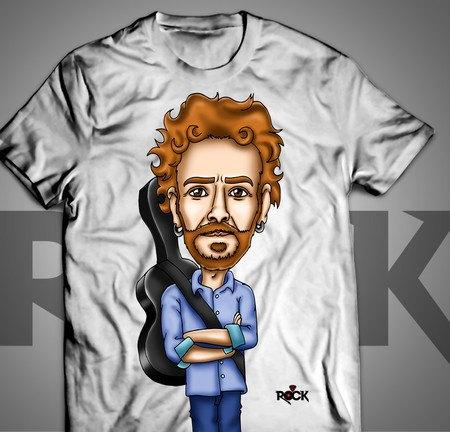 Camiseta Exclusiva Mitos do Rock Nando Reis