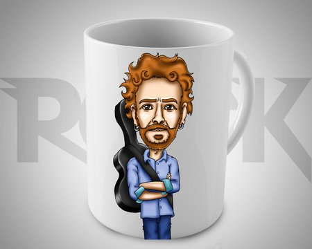 Caneca Exclusiva Mitos do Rock Nando Reis