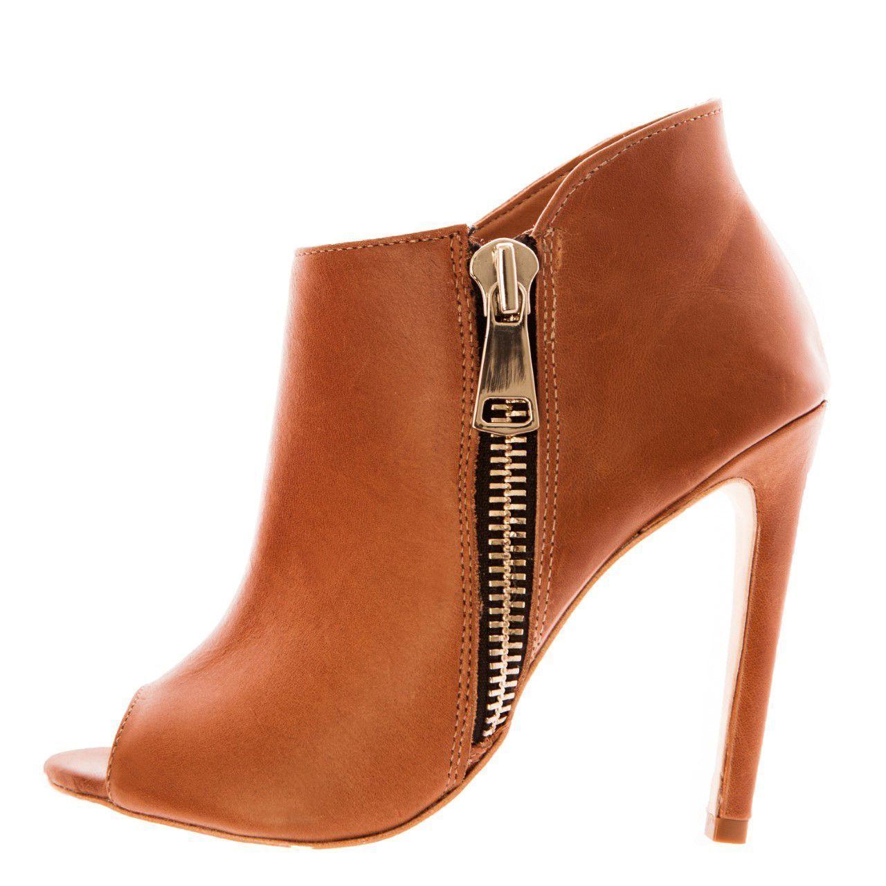 Bota Open Boot Conceito Fashion Couro Whisky – Conceito Fashion