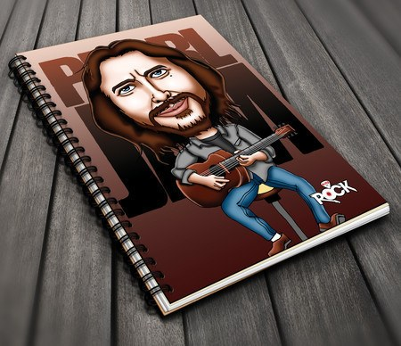 Caderno Exclusivo Mitos do Rock Pearl Jam