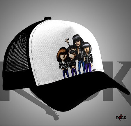 Boné Trucker Mitos do Rock Ramones