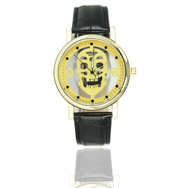 Relógio Caveira Esqueleto Amarelo – SkullAchando