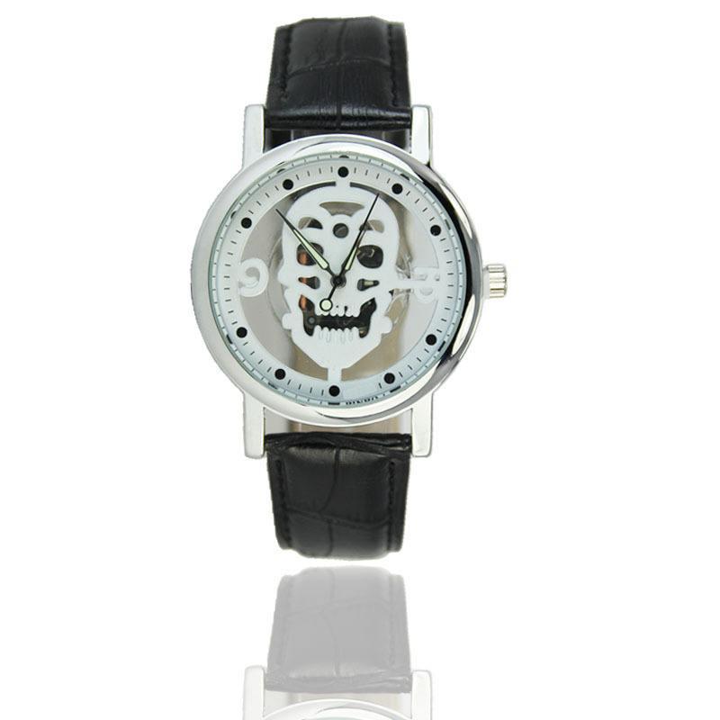 Relógio Caveira Esqueleto Branco – SkullAchando