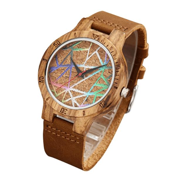 Relógio de Madeira Geometria Fun – SkullAchando