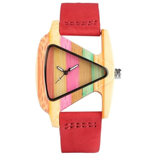 Relógio de Madeira Listras Fun – SkullAchando