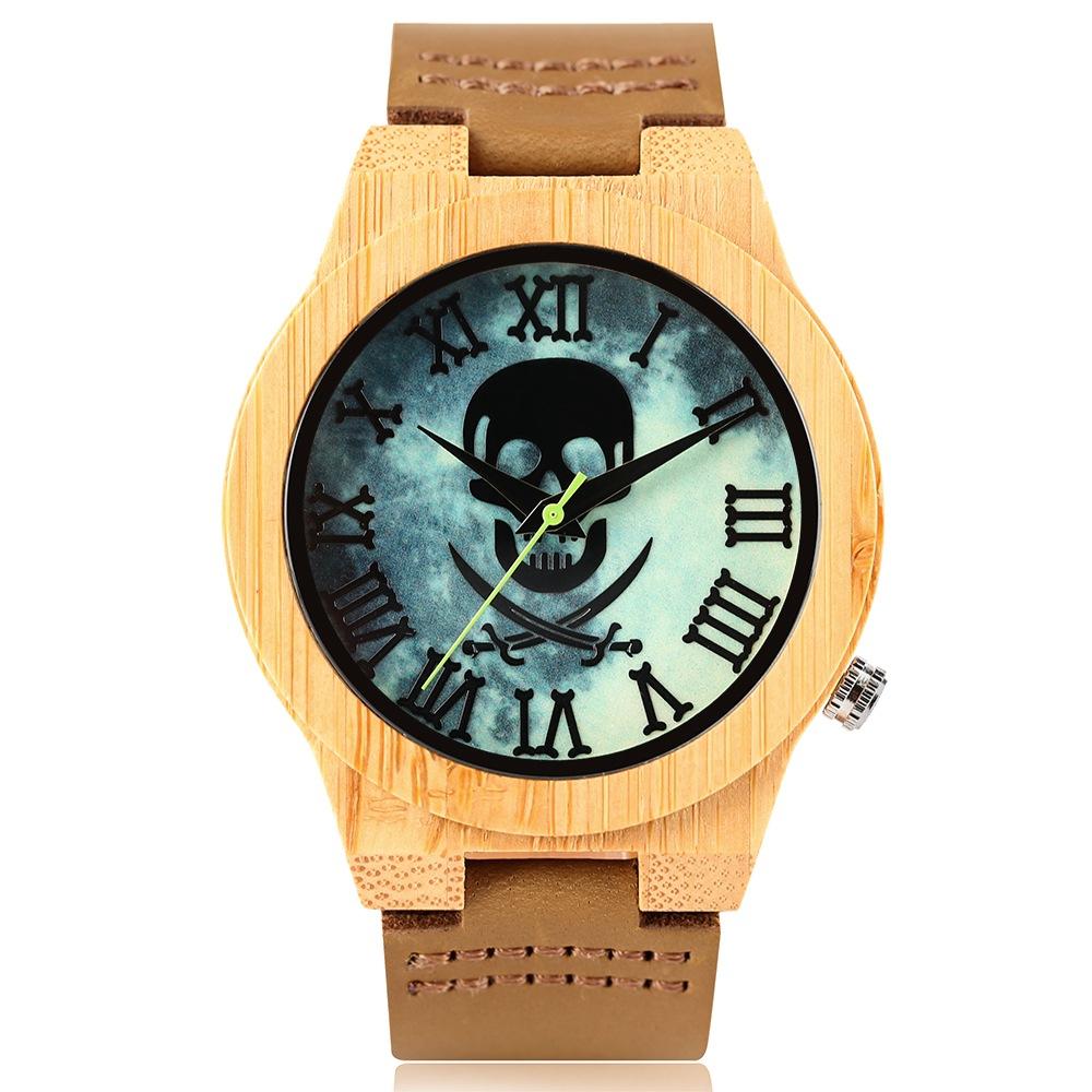 Relógio de Madeira Sky Skull – SkullAchando