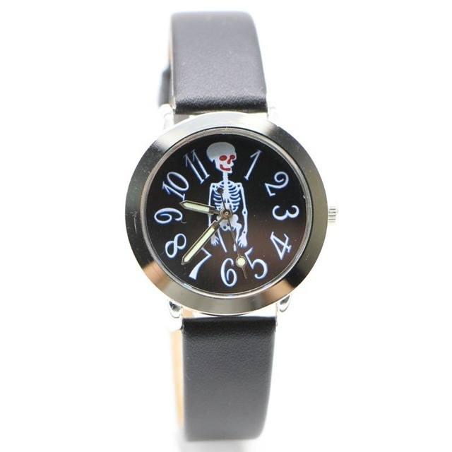 Relógio Esqueleto Preto – SkullAchando