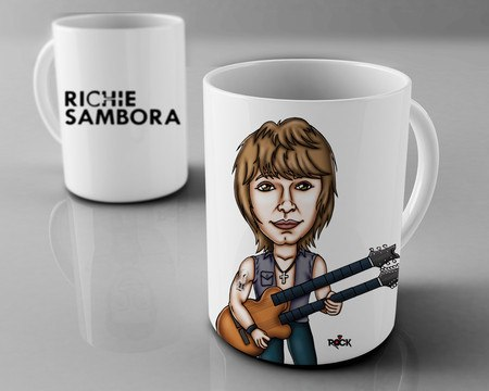 Caneca Exclusiva Mitos do Rock Richie Sambora
