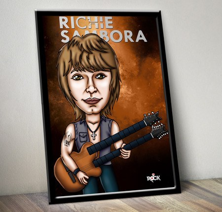 Pôster com Moldura Mitos do Rock Richie Sambora