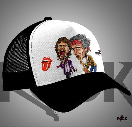 Boné Trucker Mitos do Rock Rolling Stones