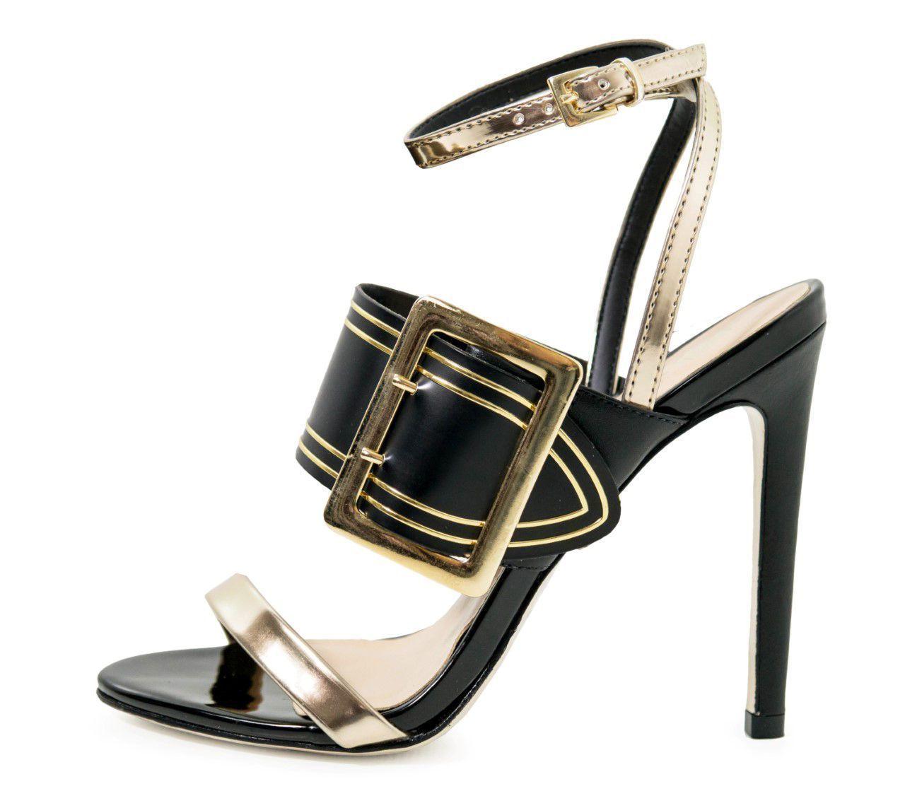 Sandália Conceito Fashion Preto Ouro – Conceito Fashion