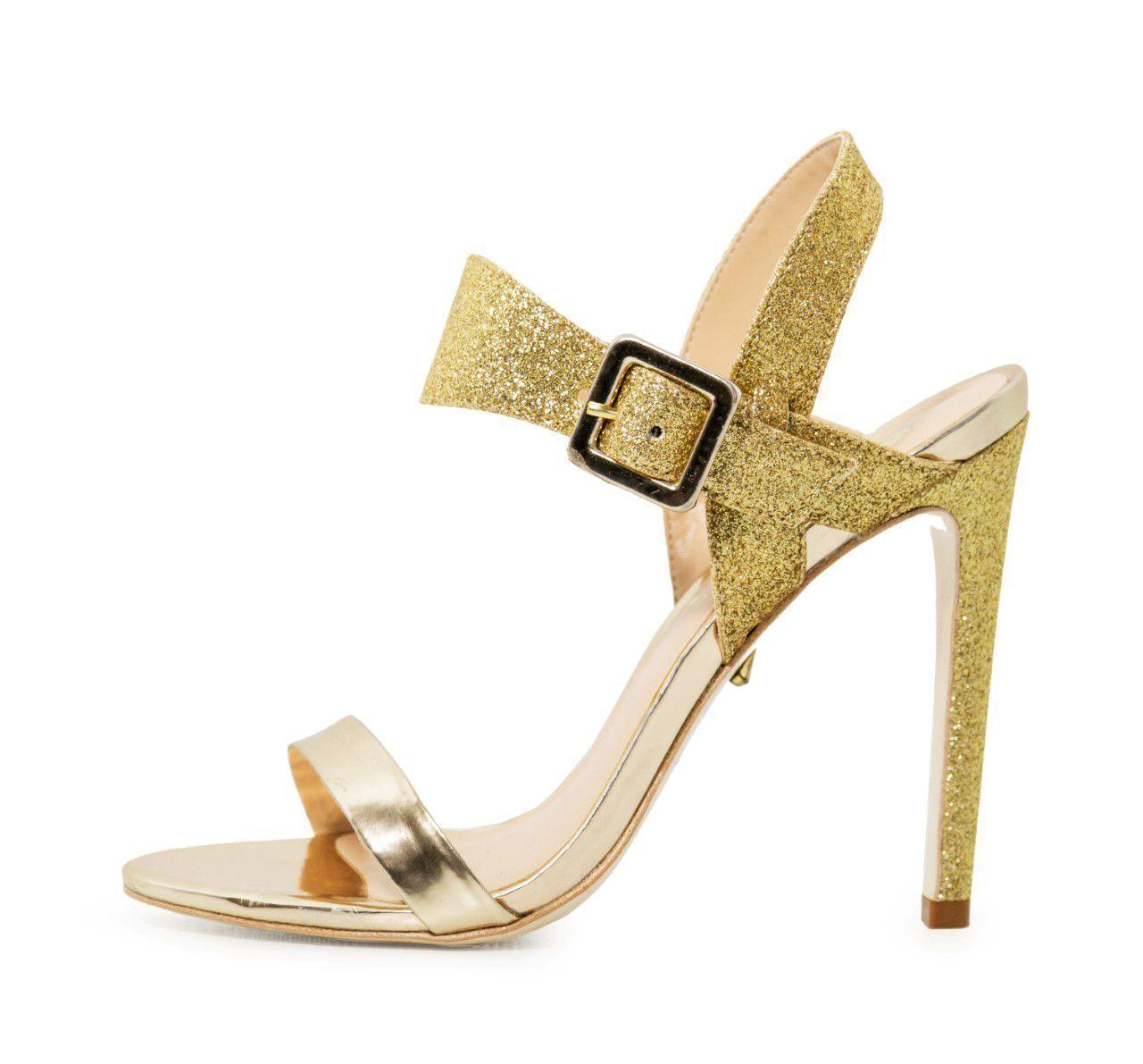 Sandália Conceito Fashion Specchio Glitter Ouro – Conceito Fashion